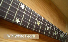Everly Brothers Star Fret Markers Inlay Stickers Decals White Silver