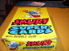 1982 TOPPS SMURF SUPER-CARDS BOX OF (24) PACKS  SALE!!