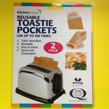 2x New Toaster Toastie Bags Pockets Toasterbag Grilled Cheese Toastabag Toasta