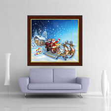 DIY 5D Cross Stitch Embroidery Painting Needlework Mosaic Christmas Home Decor