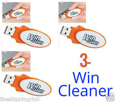 3 x WIN CLEANER USB As Seen on TV One Click PC Computer Clean Repair Protect