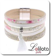 Luxus Breit Leder Armband Ibiza Paris Brasilien Magnetverschluss Wickelarmband