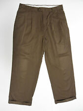 Stafford Mens Dress Pants Suit Slacks Size 36x30 Polyester Pleated Front Brown