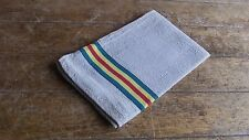 French Vintage Traditional  Rustic Cotton & Linen Striped Tea Towel