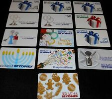 13 Collectible Gift Card Bed Bath and Beyond Store Holiday Lot No Value  2010