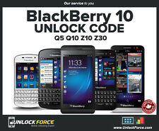 Unlock Code Bell Virgin Blackberry BB10 Z10 Z30 Q5 Q10 and More