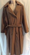London Fog Trench Coat Women's Size 10P Brown Double Breasted