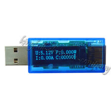 1Pcs USB OLED Detector Voltmeter Current Power Capacity Tester New Good