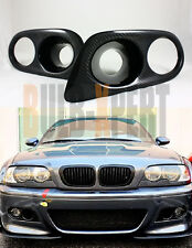 FOR 01-06 BMW E46 M3 COUPE CONVERTIBLE CARBON FIBER FOG LIGHT AIR DUCT COVER