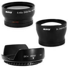 Wide Angle,Telephoto Lens + Hood for Nikon D7000 D300 D3200 D90 D60 D5100 D3100