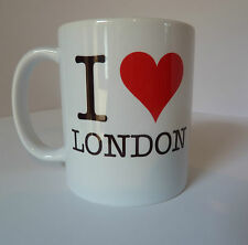 I Love London Mug Cup Gift Red Heart - Can Be Personalised For Free - Cool