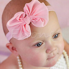 10Pcs Cute Girl Kids Baby Chiffon Toddler Flower Bow Headband Hair Band Headwear