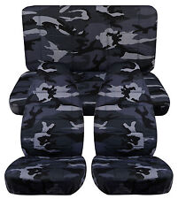 1987-1995 Jeep Wrangler Seat Covers / Urban Gray Camo Front and Rear
