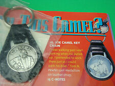 Vintage 93 JOE CAMEL Motorcycle PEWTER CAST KEYCHAIN on Leather Strap NEW in PKG