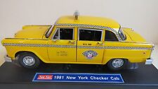 SUN STAR 2501  1:18 SCALE 1981 NEW YORK CITY CHECKER TAXI CAB BOXED MINT RARE