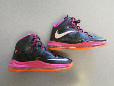 '12 Nike Lebron X 10 Floridian black fireberry basketball shoes.  Men's 10