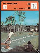 SHUFFLEBOARD Sticks and Disks Sport Game Photo 1979 SPORTSCASTER CARD 46-19A