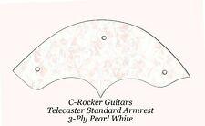 Telecaster Tele Standard Armrest Pearl White 4-Ply made for Fender Project NEW