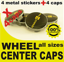 tapas llantas  ruedas RENAULT F1 NEGRO wheel center caps 55mm 60mm 4x