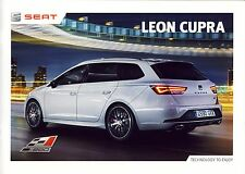 Seat Leon Cupra 2015 catalogue brochure 28 pages