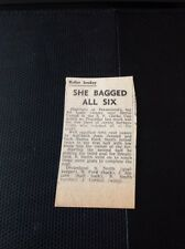 68-5 Ephemera 1963 Margate Dreamland Roller Hockey Barbara Smith Scores 6