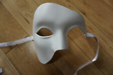 Unisex/mens/ladies WHITE Venetian Phantom/Half face Mask. Masquerade /Ball /Prom