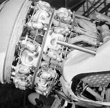 WW2 Photo WWII Captured German Luftwaffe Fw190 Engine Detail World War Two /6135