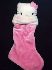 "Hello Kitty Pink Christmas Stocking Plush 20"" Sanrio"