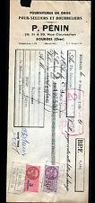 """BOURGES (18) FOURNITURES pour SELLIER BOURRELIER """"P. PENIN"""" en 1950"""