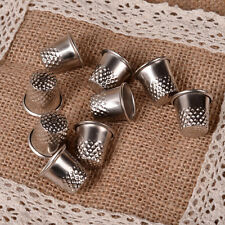 10pc Dressmakers Vintage Metal Finger Thimble Protector Sewing Neddle Shield New