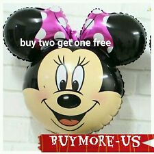 PINK Bowtie Minnie Mouse Head Birthday Party Balloon baby Shower Girl mickey