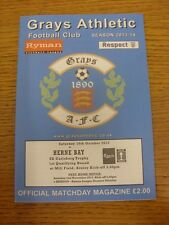 19/10/2013 grays athletic v herne bay [fa trophy]. merci de consulter cet objet