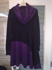 Balenciaga Black/Purple Lana Wool Sweater 42