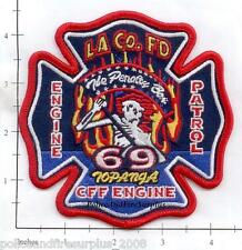California - Los Angeles County Station 69 CA Fire Dept Patch - Topanga