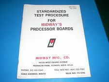 Midway Standardized Test Procedures for 8080 Processor Boards 1976 48 pages