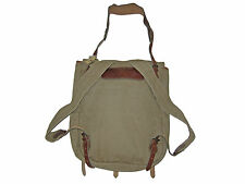 RRL Ralph Lauren Canvas Leather Desert Field Training Backpack Polo Cargo Bag