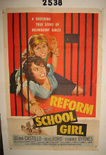 REFORM SCHOOL GIRL Original 1sh Movie Poster 1957 Bad girl catfight behind bars