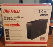 3 TB Buffalo External Hard Drive and Backup HD-LC3.0U3 Brand New Sealed