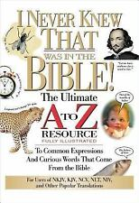 I Never Knew That Was in the Bible (A to Z Series) by Manser, Martin H.