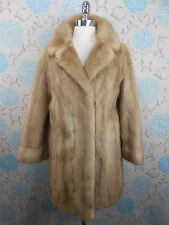 Vintage 1950s Ladies Palomino Blonde Mink Real Fur Stroller Jacket Coat 12/14