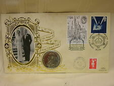 1996 Stamp Cover King Edward VIII 1 Crown Coin 1993 Not Opened