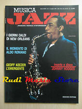 Rivista MUSICA JAZZ 7/1990 Jonny Hodges Geoff Keezer Sammy Davis Jr.  NO cd