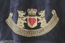 NWT Juicy Couture Navy Blue Velour Regal Gold Glitter Hoodie Jacket L $128