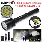 XLightFire 28000 Lumens 11x CREE XML T6 5 Mode 18650 (charger) LED Flashlight
