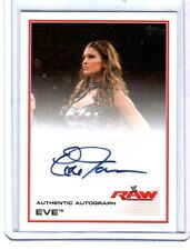 WWE Eve Torres 2013 Topps Triple Threat Authentic Autograph Card Raw Diva DWC