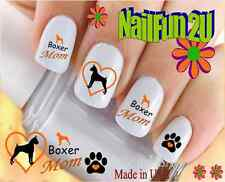 "RTG Set#116M DOG BREED ""Boxer MOM 2"" WaterSlide Decals Nail Art Transfers"