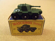 OLD VINTAGE LESNEY MATCHBOX # 67 SALADIN ARMORED CAR ORIGINAL BOX