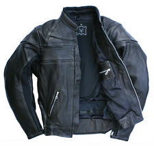 NEU Skorpion Roadstar Biker-Lederjacke Motorradjacke Real Leather Gr.56 schwarz