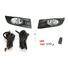 Clear Lens Fog Light Set For 2006-2007 Honda Accord Coupe 2DR w/Bezel Wires Bulb