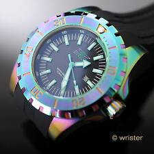 Invicta Pro Diver Rainbow Iridescent Black Stitched Poly 52mm Men's Watch - Rare